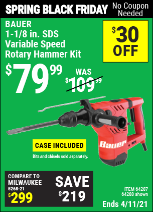 1-1/8 in. SDS Variable Speed Rotary Hammer Kit