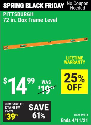 72 in. Box Frame Level