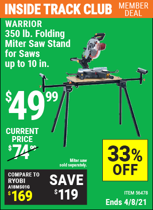 350 lb. Folding Miter Saw Stand for Saws Up to 10 in.