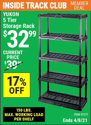5 Tier Storage Rack