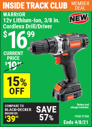 12v Lithium-Ion 3/8 in. Cordless Drill/Driver