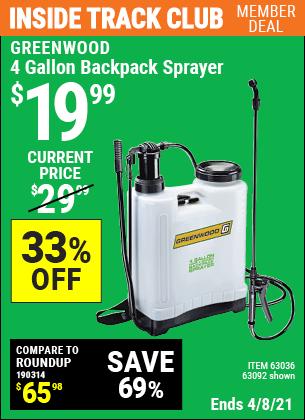 4 gallon Backpack Sprayer