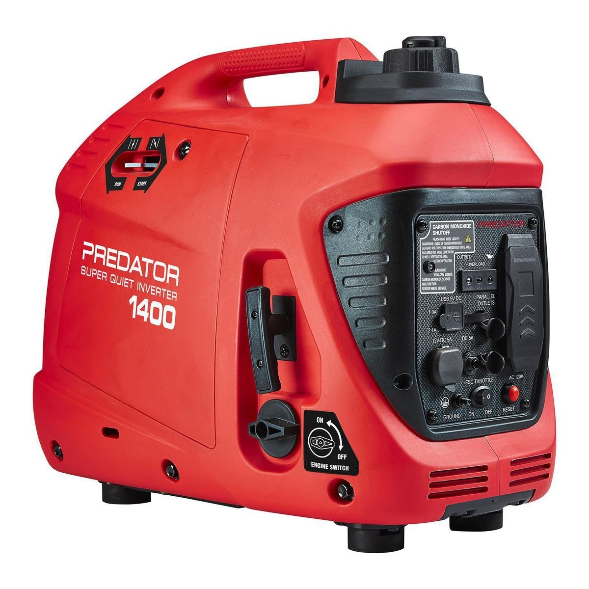 PREDATOR 1400 Watt Super Quiet Inverter Generator With CO SECURE™ - Item 57063