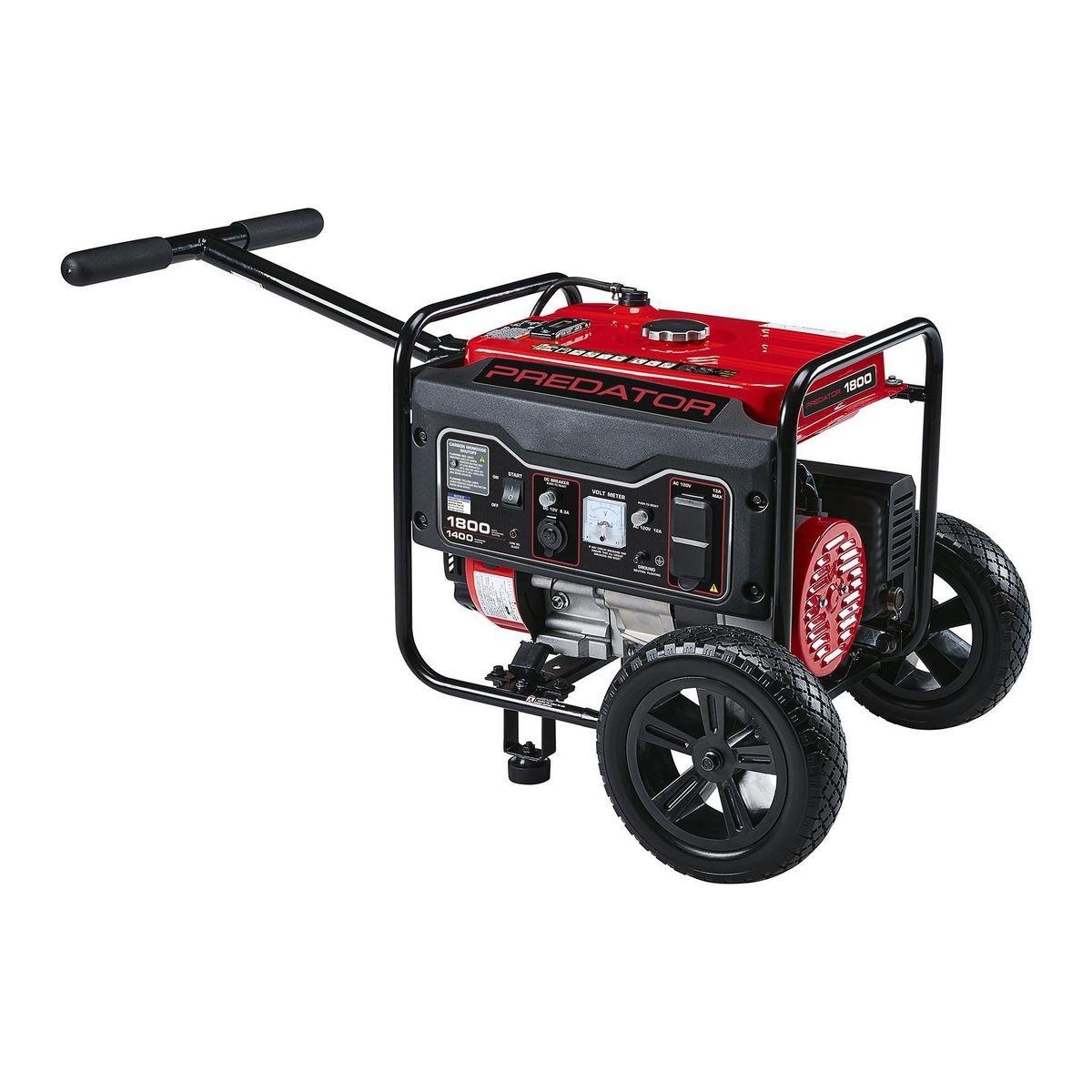 PREDATOR 1800 Watt Gas Powered Portable Generator With CO SECURE™ - Item 57064