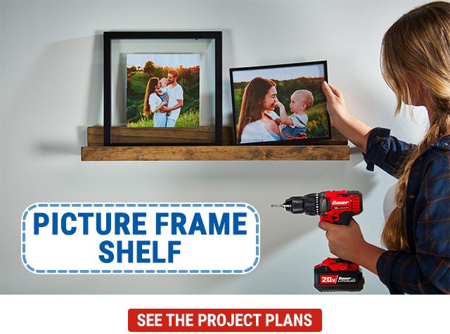 HFT Home Picture Frame Shelf